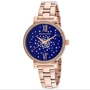 Michael Kors Ladies Sofie Rose Gold Tone Watch